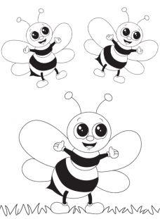 رسومات للاطفال بسيطة للتلوين نحل
