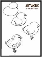 رسومات اطفال تعليمية ملونة كتكوت