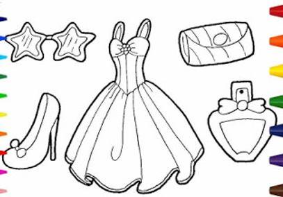 رسمات ملابس للتلوين للأطفال