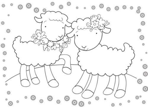 رسومات تلوين اطفال 2020 خروفين