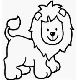اسد كرتون للتلوين للاطفال صور ورسومات جميلة للصغار أسد ملك الغابة