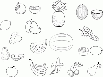 تلوين الفاكهة بكل سهولة للأطفال