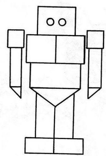 روبوت للتلوين من الأشكال الهندسية