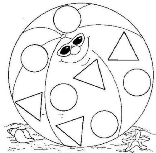 صورة رسمة كرة اللعب للتلوين للأطفال الصغار