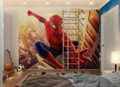 رسمة جميلة للحوائط الرجل العنكبوت