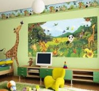 صور كرتونية لجدران الغرف