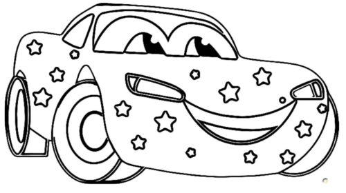 سيارة سباق للتلوين جميلة وكيوت