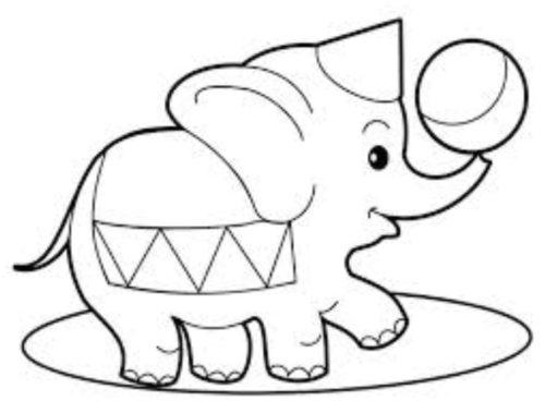 رسومات أطفال تعليمية ملونه فيل للتلوين