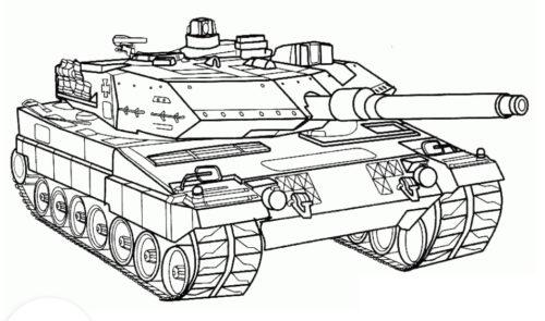 رسمات جميلة وسائل نقل حربية للتلوين