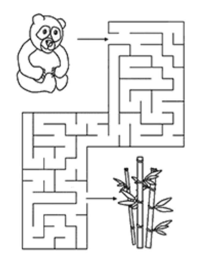 ورقة عمل سهلة متاهات للاطفال PDF