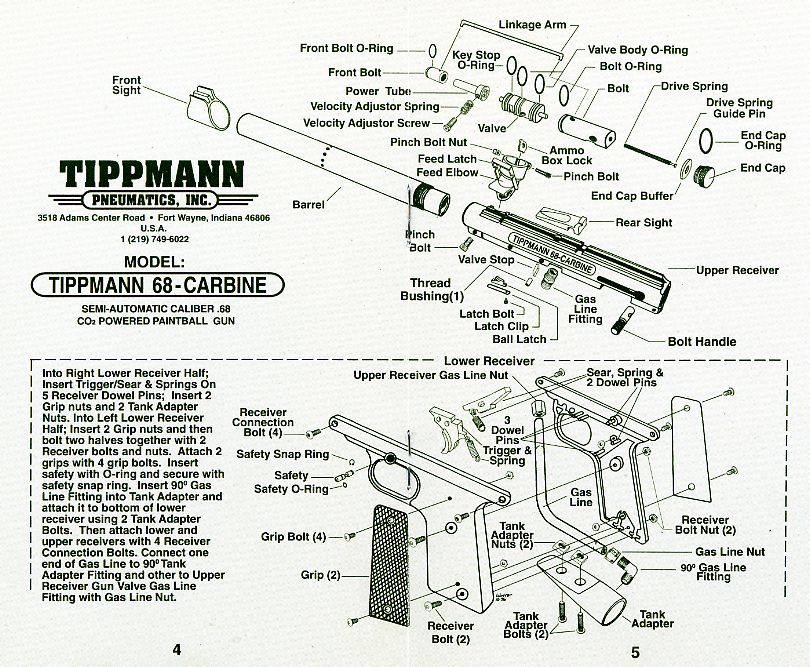 sku tippmann 98 custom act gun diagram