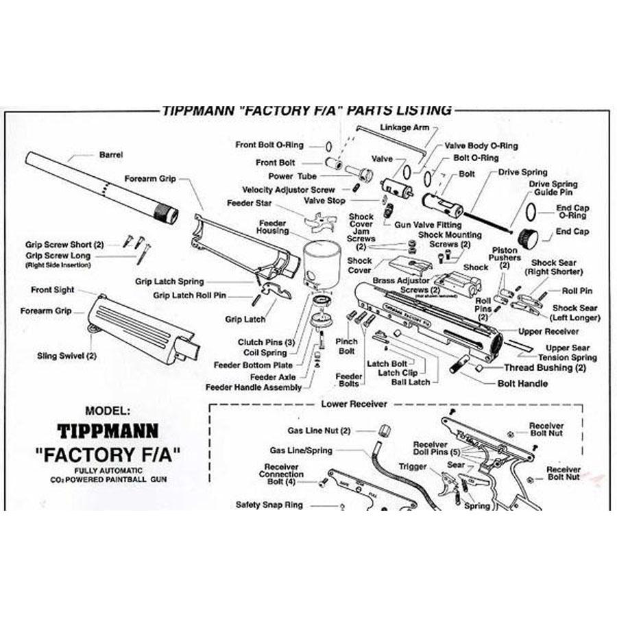 Tippmann FA Gun Diagram