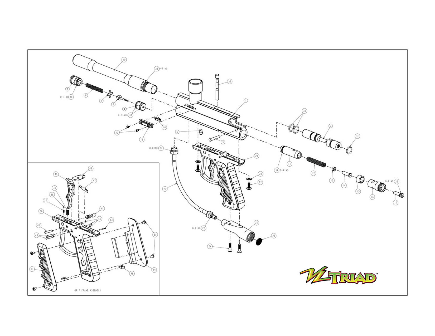 ViewLoader Triad Gun Diagram