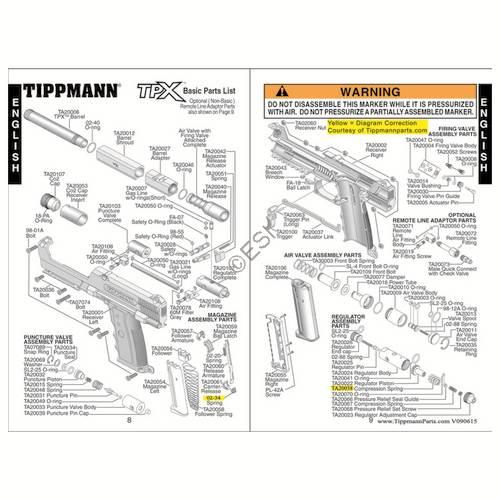 sku tippmann tpx gun diagram
