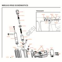 Kingman Spyder MR100 PRO 2012 Gun Diagram