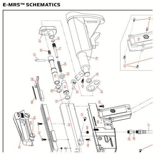 Kingman Spyder MR5 E 2013 Gun Diagram