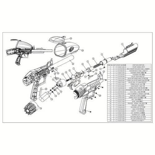 Brass Eagle Raptor Pump Gun Diagram