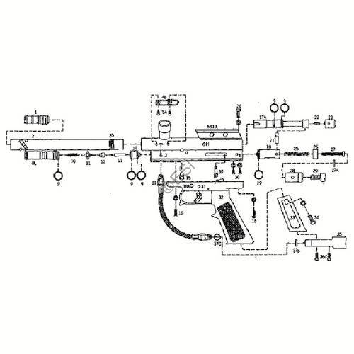 kingman spyder victor 2 gun diagram