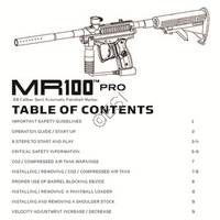 Kingman Spyder MR100 PRO 2012 Gun Manual