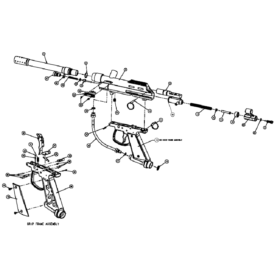 Brass Eagle Eradicator Gun Diagram