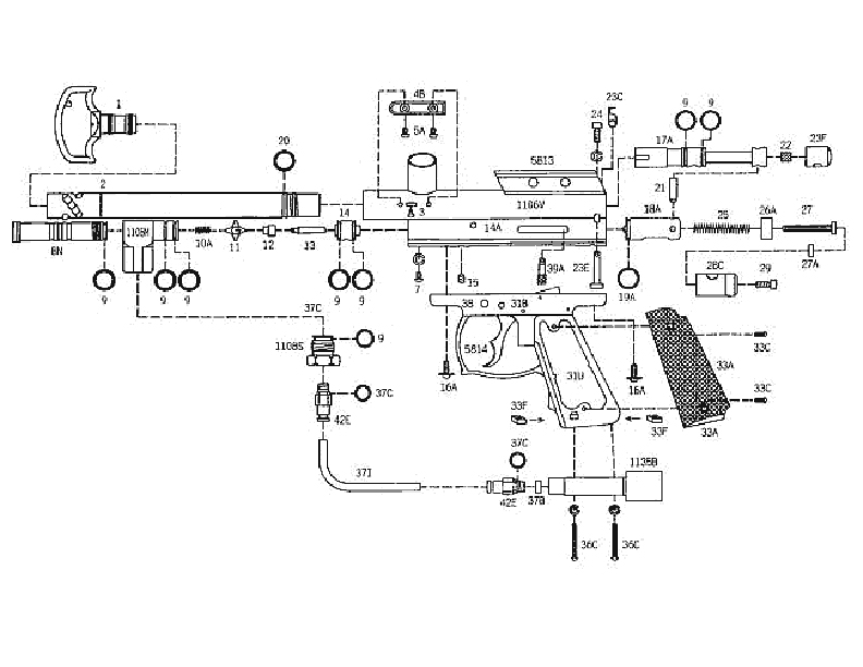 Kingman Spyder Gun Parts Diagrams