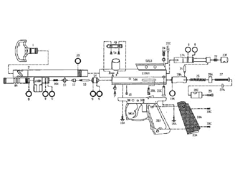 Kingman Spyder Java Edition Compact Deluxe Gun Diagram