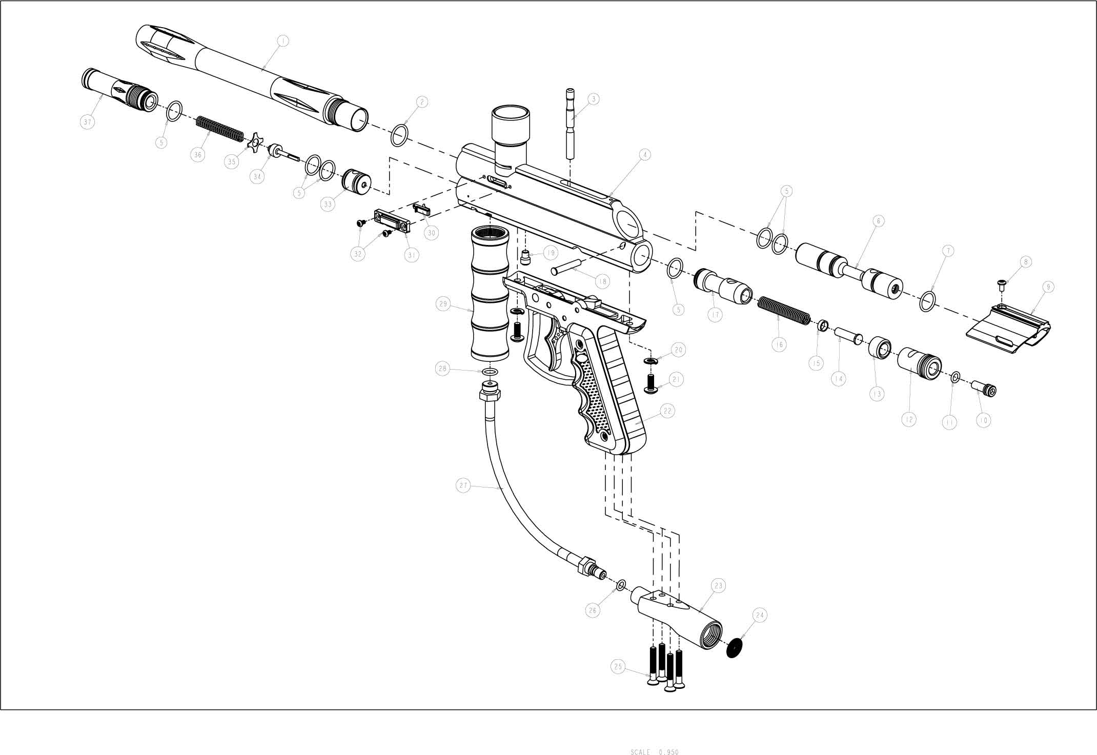 ViewLoader Prodigy E-Grip Gun Diagram
