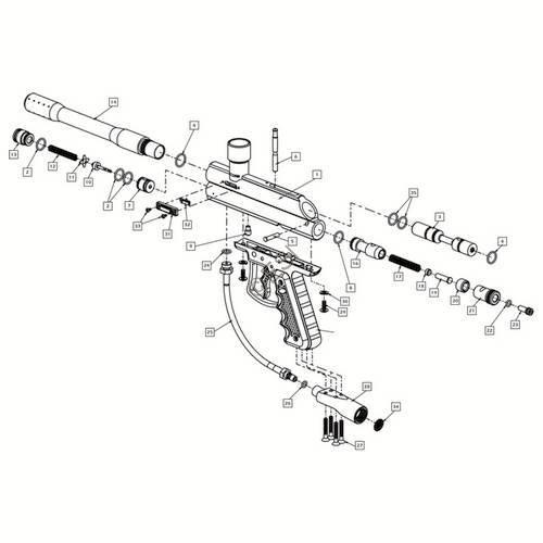 Brass Eagle Avenger 2 Gun Diagram