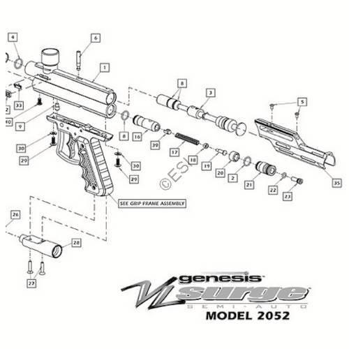 ViewLoader Genesis Surge Gun Diagram