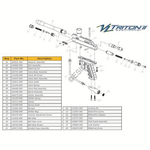 ViewLoader Triton II Gun Diagram
