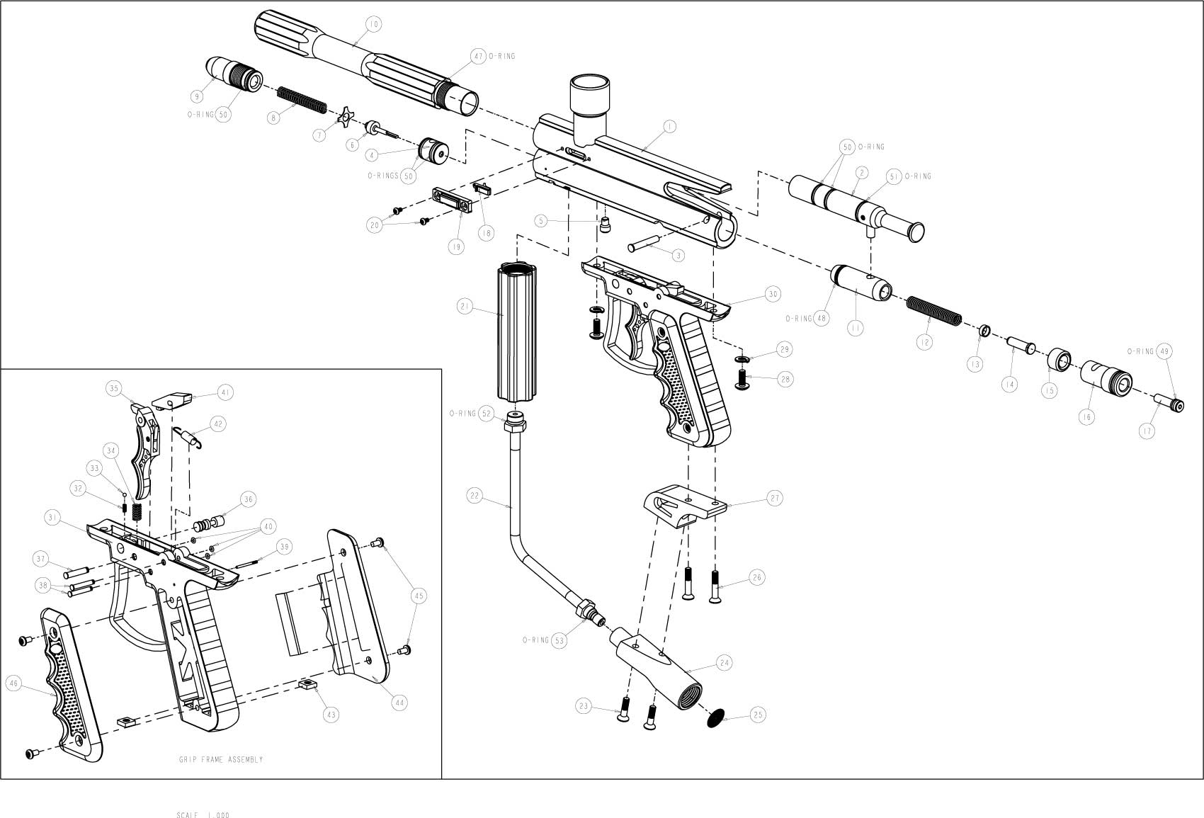 sku brass eagle avenger 3 gun diagram