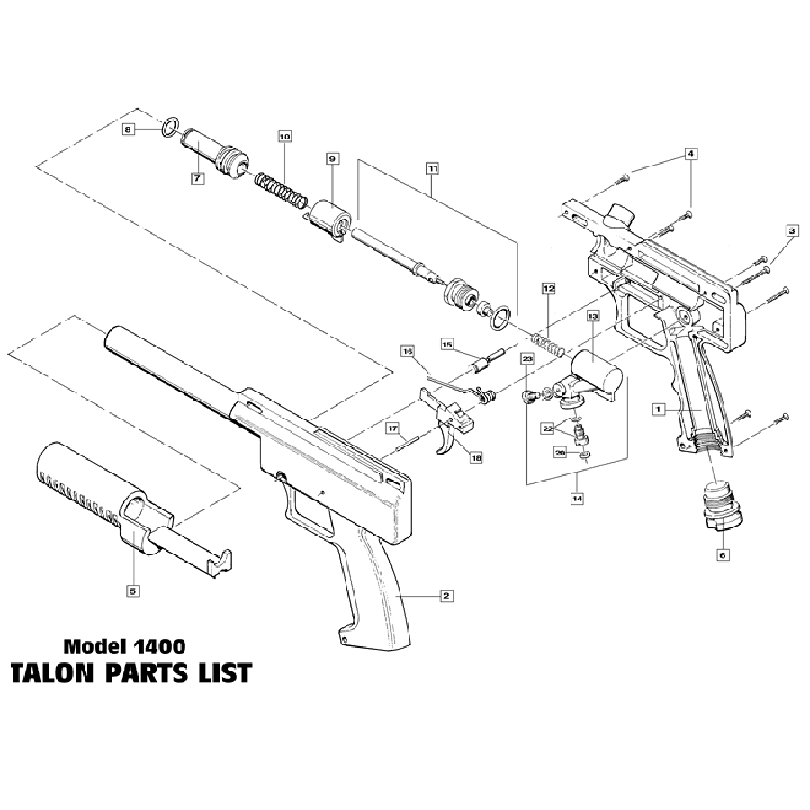 Brass Eagle Talon Gun Diagram