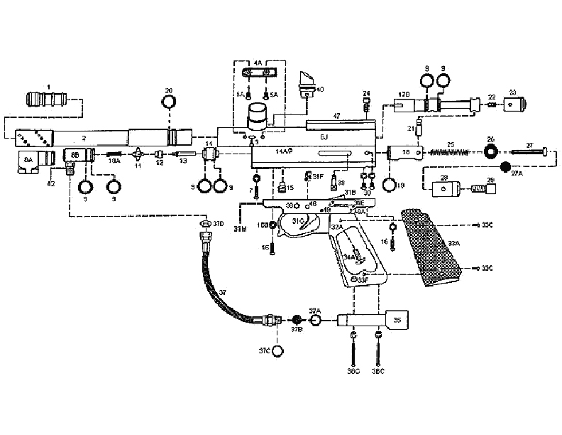 Kingman Spyder Elite Gun Diagram