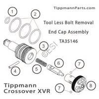 Tippmann Crossover XVR Tool Less Bolt Removal End Cap