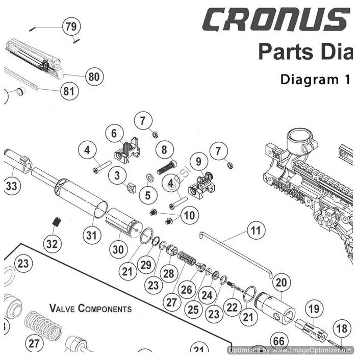 Tippmann Cronus 1 of 2 Gun Diagram