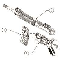 Tippmann M4 Carbine Airsoft Diagram