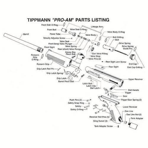 tippmann 98 custom pro gun diagram
