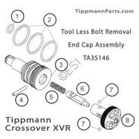 Tippmann Crossover XVR Tool Less Bolt Removal End Cap