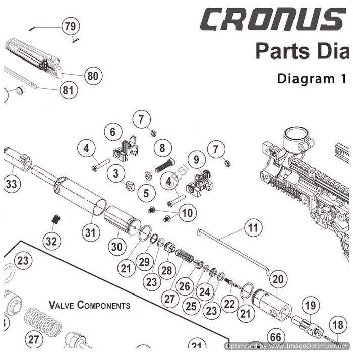 Tippmann Cronus 1 of 2 Gun Diagram