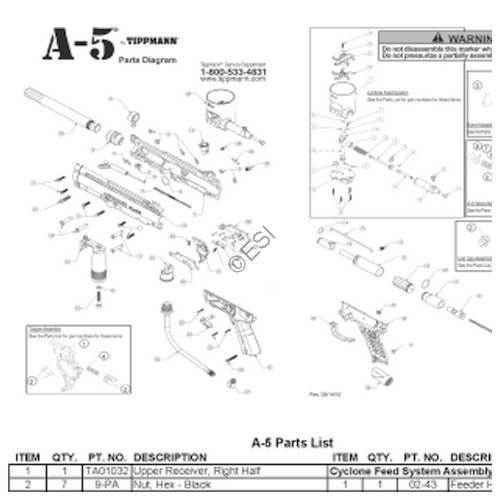 basic gun diagram single light switch wiring australia tippmann a 5 2011 dia tip a5b 2010 2 jpg