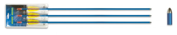 Set 3 flechas aluminio 29″