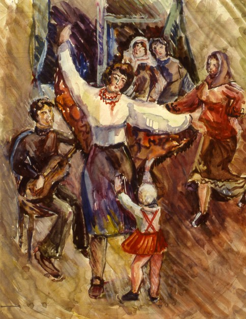 Image of Russian folkdancers