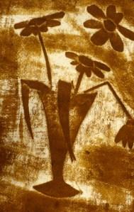 Image of sponge-painted still life