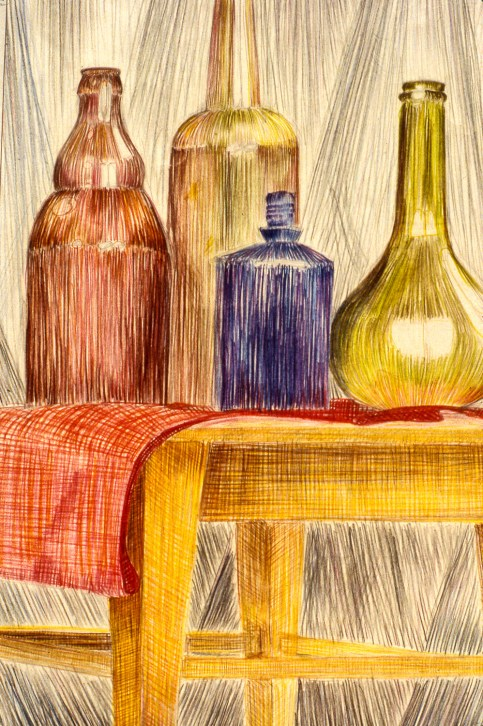 Still-life image of bottles