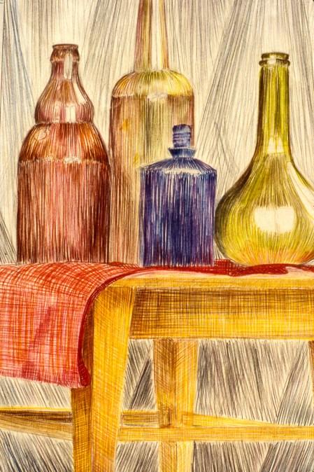 Still-life image of bottles
