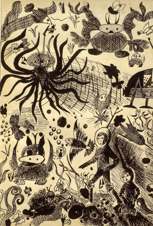 Undersea Fantasy Creatures and People