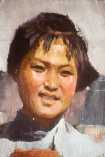 Portrait image of a young girl