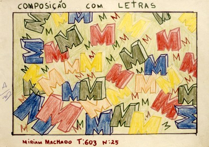 """Abstract drawing using variations on the letter """"M"""""""
