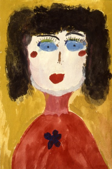 Painting of a child's self-portrait