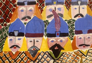 Painting of authority figures - probably religious